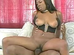 Black sweetie with pierced pussy...