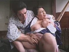 Enormous Asian lady enjoys...