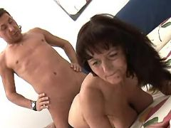 Mature hard drilled in doggy style