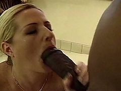 Sexy blonde slut nailed by huge...