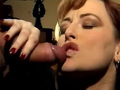 Mature secretary gets cum
